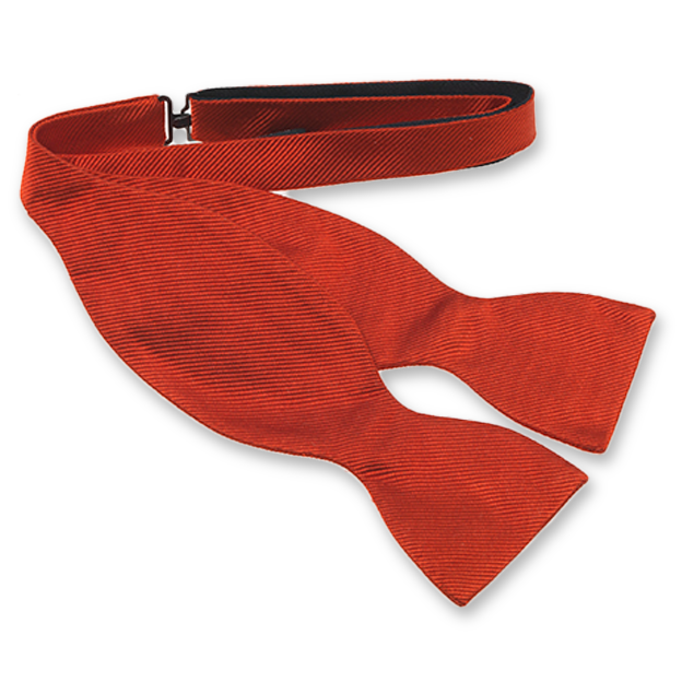 Red Self-Tie Bow Tie - Silk (1)