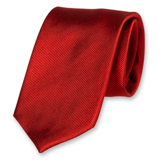 Red Extra Long Tie - Silk (1)