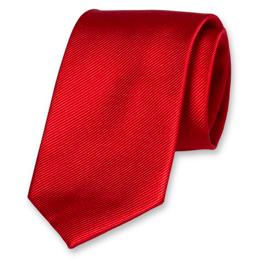 Bright Red Extra Long Tie - Silk (1)