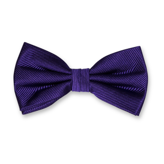 Purple Bow Tie - Silk (1)