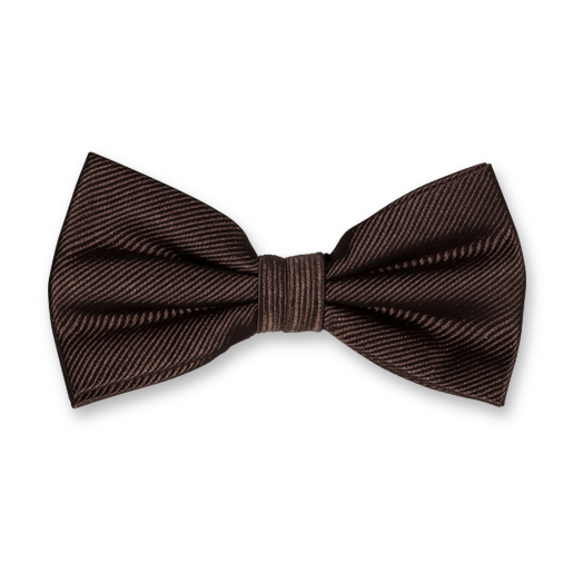 Brown Bow Tie - Silk (1)
