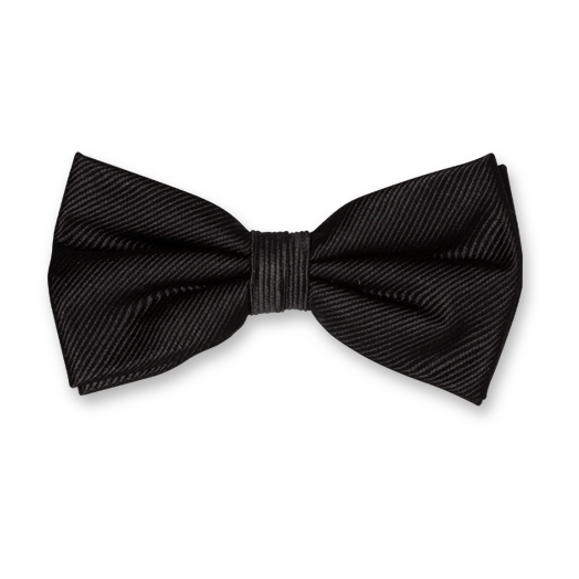 Black Bow Tie - Silk (1)