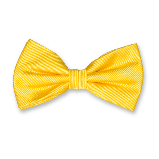 Bright Yellow Bow Tie - Silk (1)