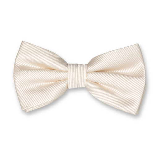 Cream white bow tie - Silk (1)