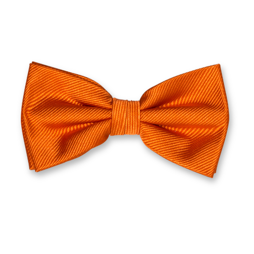Dark Orange Bow Tie - Silk (1)