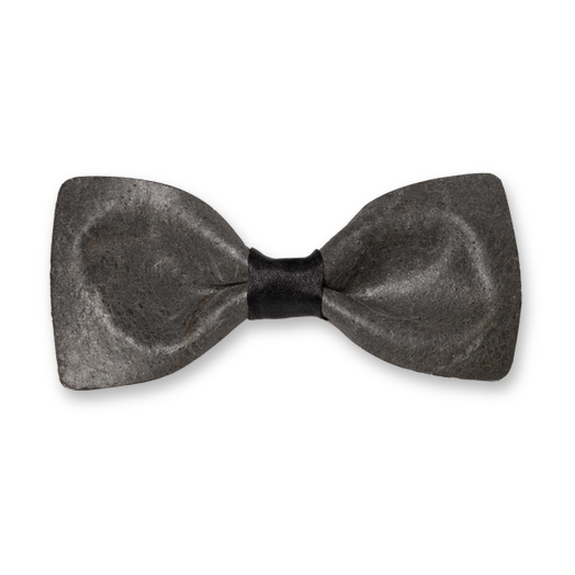 Stone bow tie - Dark grey (1)