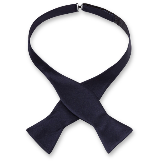 Luxury self tie bow tie dark blue – Profuomo (1)