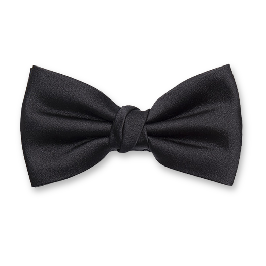 Luxury silk bow tie black – Profuomo (1)