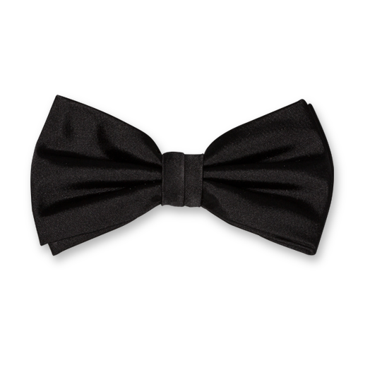 Black Bow Tie - Satin Silk (1)