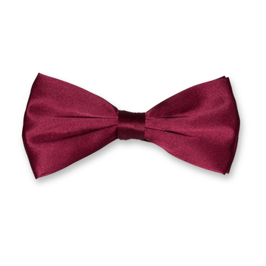 Burgundy Bow Tie - Satin Silk (1)