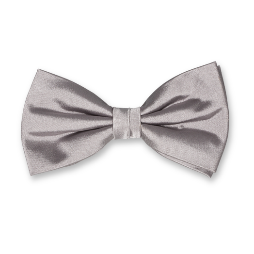 Grey Bow Tie - Satin Silk (1)