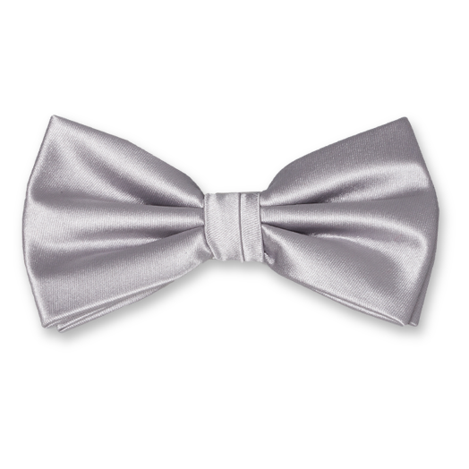 Bow tie grey - polyester (1)