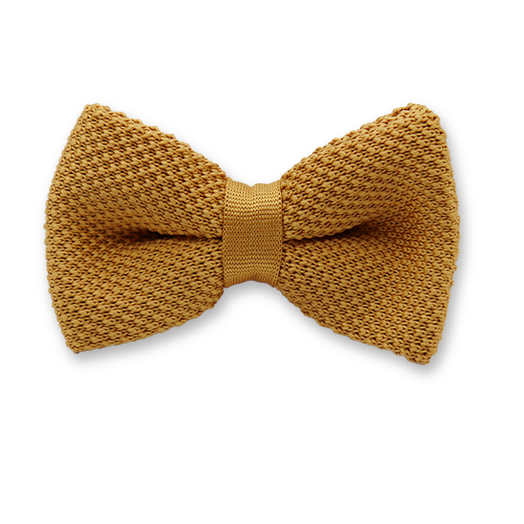 Knitted bow tie Gold - Polyester (1)