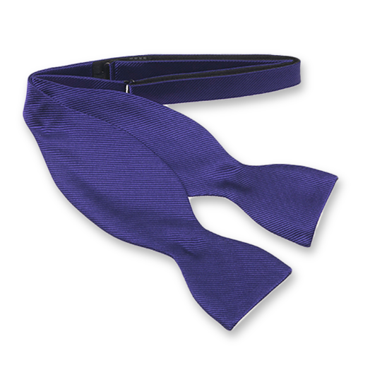 Purple Self-Tie Bow Tie - Silk (1)