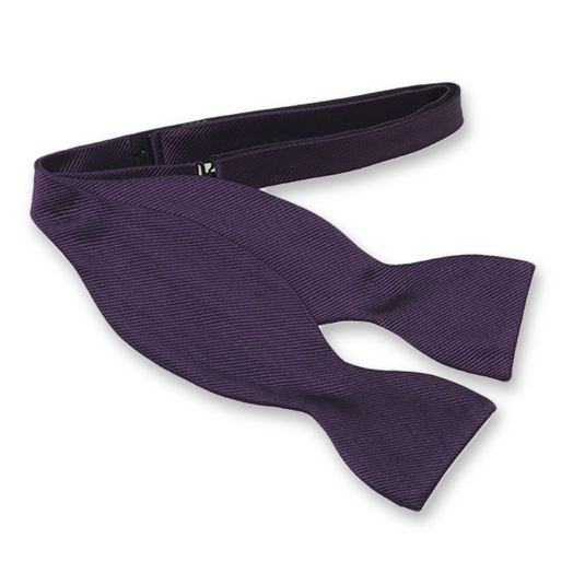 Dark Purple Self-Tie Bow Tie - Silk (1)