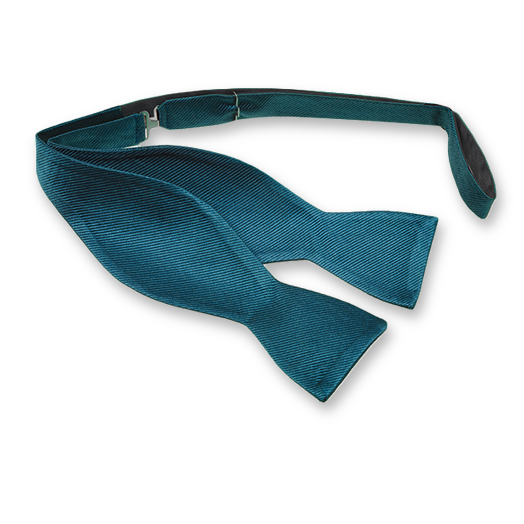 Petrol Self-Tie Bow Tie - Silk (1)