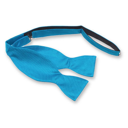 Bright Blue Self-Tie Bow Tie - Silk (1)