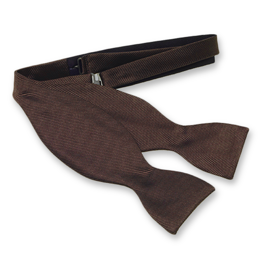 Brown Self-Tie Bow Tie - Silk (1)