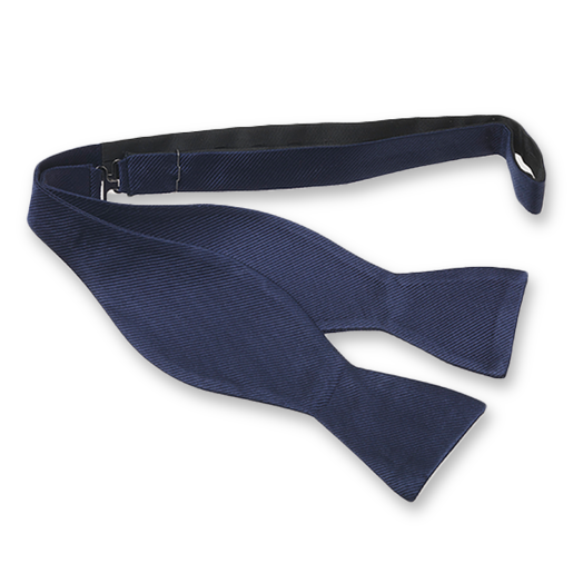 Dark Blue Self-Tie Bow Tie - Silk (1)