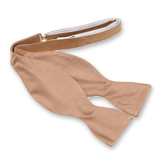 Beige self-tie bow tie - silk (1)