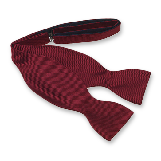 Burgundy Self-Tie Bow Tie - Silk (1)