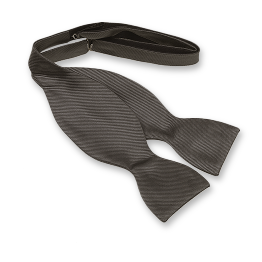 Anthracite Self-Tie Bow Tie - Silk (1)
