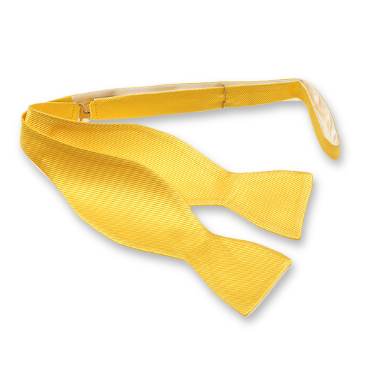 Bright Yellow Self-Tie Bow Tie - Silk (1)