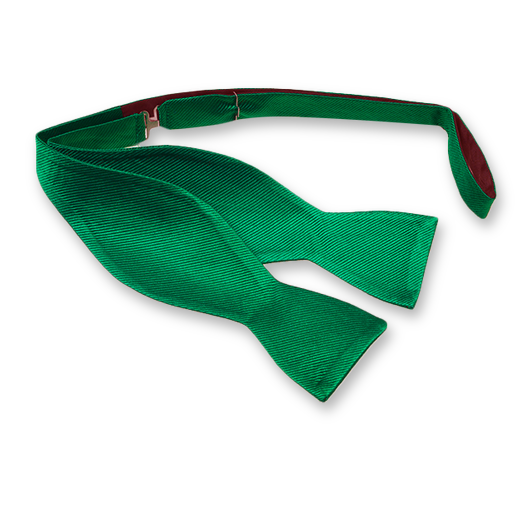 Green Self-Tie Bow Tie - Silk (1)