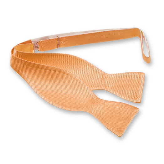 Peach Self-Tie Bow Tie - Silk (1)