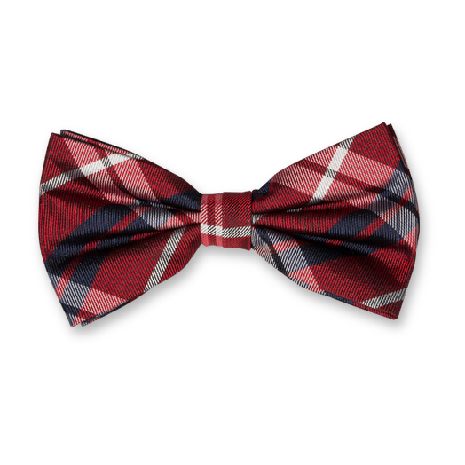 Bow Tie - Red Square - Silk (1)