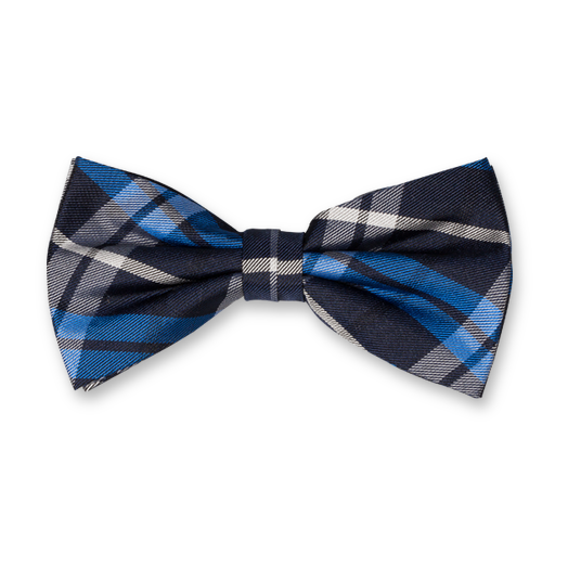 Bow Tie - Blue Square - Silk (1)