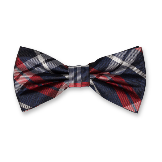Bow Tie - Dark Blue Square - Silk (1)