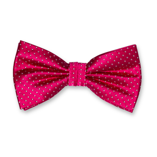 Bow Tie - Fuchsia with Dots - Silk (1)