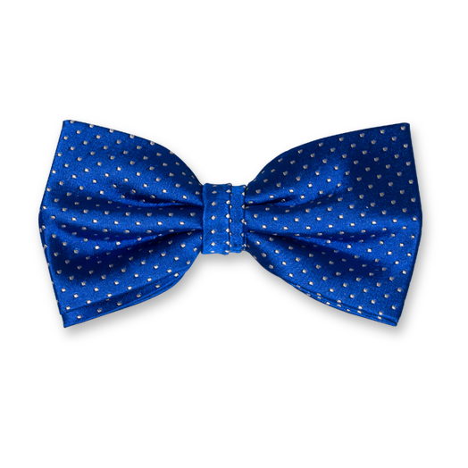 Bow Tie - Blue with Dots - Silk (1)
