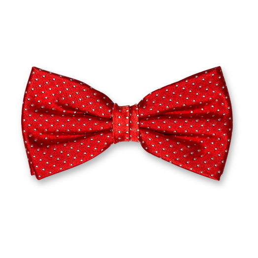 Bow Tie - Red with Dots - Silk (1)