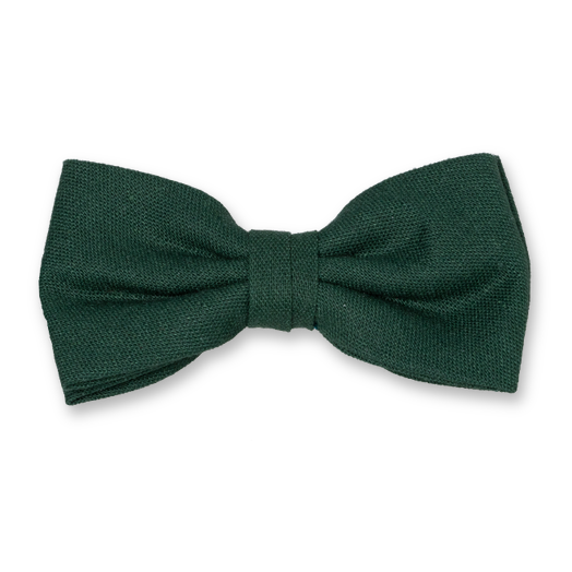 Linen bow tie - dark green (1)
