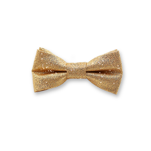 Kids Bow Tie - Gold Glitter (1)