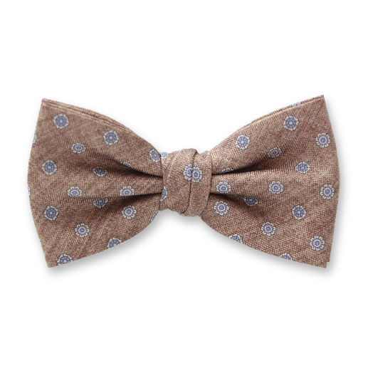 Luxury bow tie Profuomo - Pattern Beige (1)