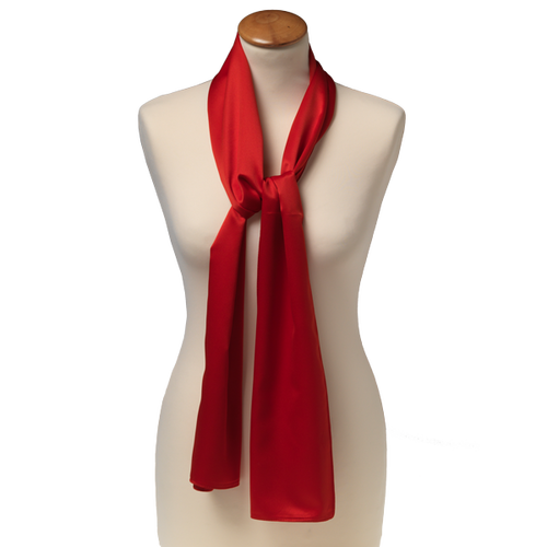 Scarf Bright Red - 25x160 cm - Polyester (1)