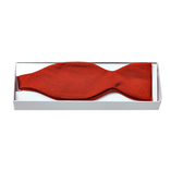 Red Self-Tie Bow Tie - Silk - Thumbnail 2